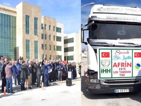"""""""Sıcacık Bir İyilik"""" Yardım Kampanyasıyla Afrin'e Destek"""