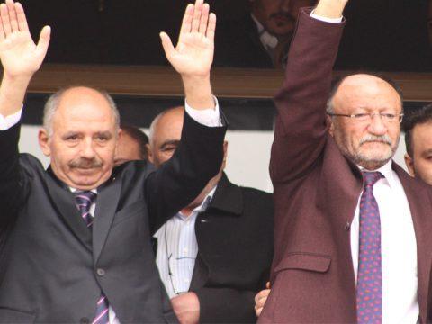 Mucur Belediye Başkanı Ali ŞAHİN ve Hasan Hüseyin KÖŞKER El Ele