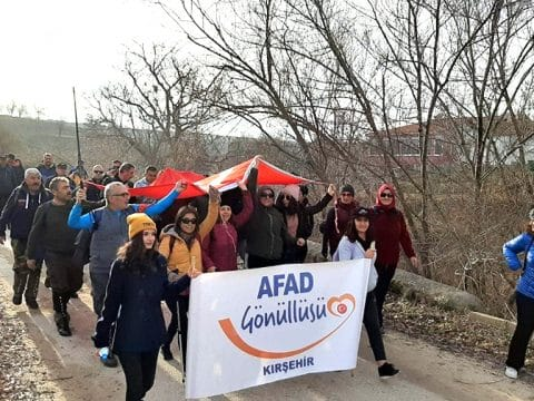 AFAD Gönüllüleri, Mucur'dan Kırşehir' e ATA'mız için Yürüdü