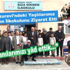 Mucur Huzurevi'ndeki Yaşlılarımız Rıza Dikmen İlkokulunu Ziyaret Etti