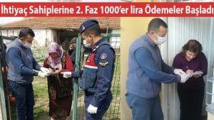 İhtiyaç Sahiplerine 2. Faz 1000'er lira Ödemeler Başladı