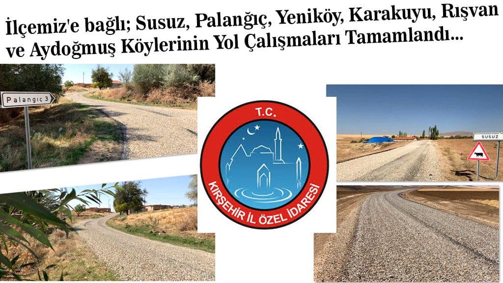 Mucur' Bağlı 6 Köyün Yol Yapımı Tamamlandı