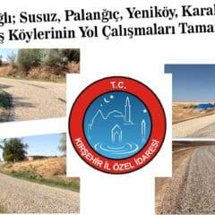 Mucur' BaÄŸlı 6 Köyün Yol Yapımı Tamamlandı