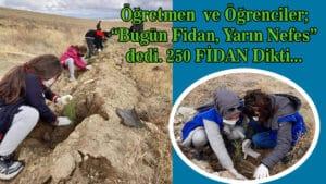 Mucur'da 250 Fidan Toprakla buluşturuldu