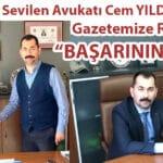 """Mucur'un Sevilen Avukatı Cem YILDIRIM'dan Gazetemize Röportaj; """"BAŞARININ SIRRI"""""""