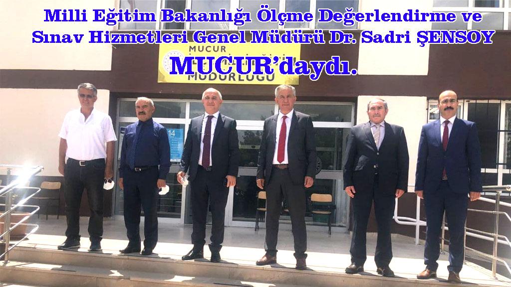 Genel Müdürü Dr. Sadri ŞENSOY Mucur'daydı.